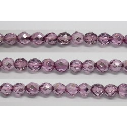 60 perles verre facettes fuschia demi metalise 3mm