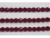 30 perles verre facettes fuschia 6mm