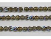 60 perles verre facettes gris A/B 5mm