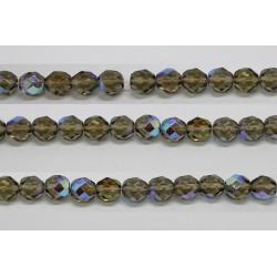 30 perles verre facettes gris A/B 12mm