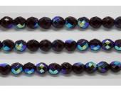 30 perles verre facettes grenat A/B 14mm