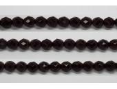 30 perles verre facettes grenat 10mm
