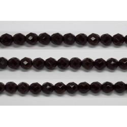 30 perles verre facettes grenat 14mm