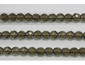 30 perles verre facettes gris fume 6mm