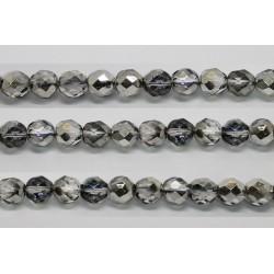 30 perles verre facettes heliotrope 6mm