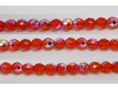 60 perles verre facettes jacinthe A/B 4mm