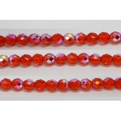 30 perles verre facettes jacinthe A/B 6mm
