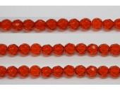 30 perles verre facettes jacinthe 8mm