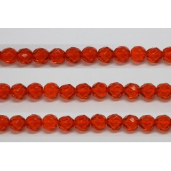 30 perles verre facettes jacinthe 10mm