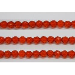 30 perles verre facettes jacinthe 16mm