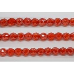 30 perles verre facettes jacinthe lustre 6mm