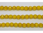60 perles verre facettes jaune 3mm