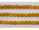 60 perles verre facettes jaune opale A/B 3mm