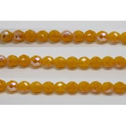60 perles verre facettes jaune opale A/B 5mm