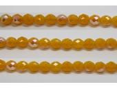 30 perles verre facettes jaune opale A/B 14mm