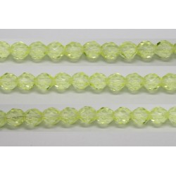 60 perles verre facettes jonquille 4mm