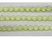 30 perles verre facettes jonquille 6mm