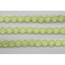 30 perles verre facettes jonquille 12mm