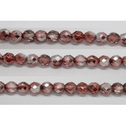 60 perles verre facettes marron demi metalise 3mm