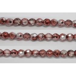 30 perles verre facettes marron demi metalise 6mm
