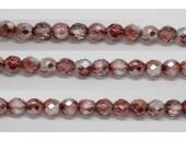 30 perles verre facettes marron demi metalise 8mm
