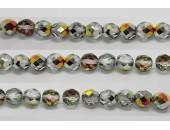 60 perles verre facettes marea 5mm