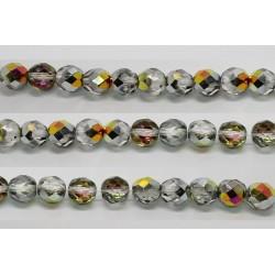 30 perles verre facettes marea 14mm