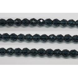 60 perles verre facettes montana 3mm