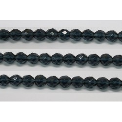 60 perles verre facettes montana 4mm