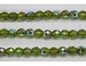 60 perles verre facettes olivine A/B 4mm