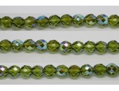 30 perles verre facettes olivine A/B 10mm
