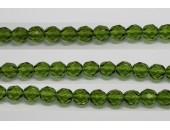 30 perles verre facettes olivine 12mm