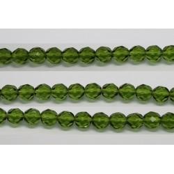 30 perles verre facettes olivine 14mm
