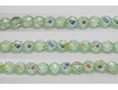 30 perles verre facettes peridot A/B 10mm
