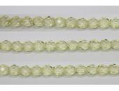 60 perles verre facettes paille 4mm