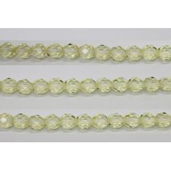 30 perles verre facettes paille 12mm