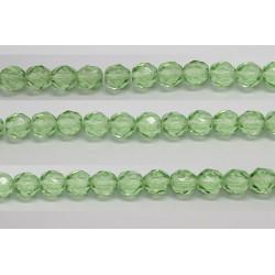 60 perles verre facettes peridot 3mm