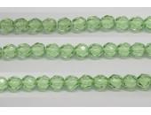 60 perles verre facettes peridot 5mm