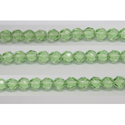 30 perles verre facettes peridot 6mm