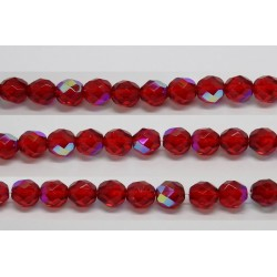 60 perles verre facettes rubis A/B 4mm
