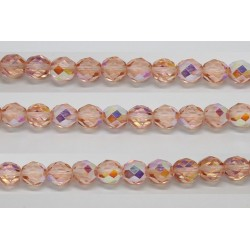 60 perles verre facettes rose clair A/B 5mm