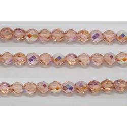 30 perles verre facettes rose clair A/B 10mm