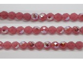 60 perles verre facettes rose opale A/B 3mm