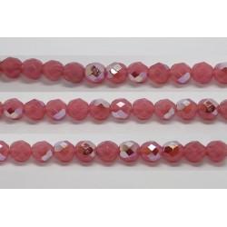 60 perles verre facettes rose opale A/B 4mm