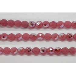 60 perles verre facettes rose opale A/B 5mm