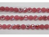 30 perles verre facettes rose opale A/B 6mm