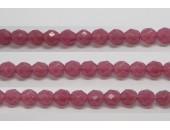 30 perles verre facettes rose opale 12mm