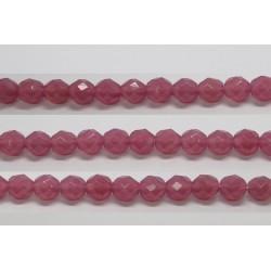 30 perles verre facettes rose opale 14mm
