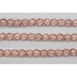 60 perles verre facettes rose 5mm