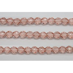 30 perles verre facettes rose 8mm